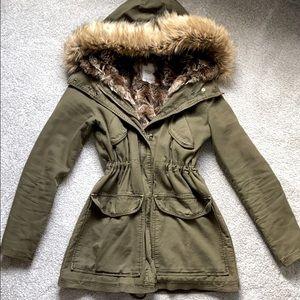 ZARA Faux Fur Lined Jacket